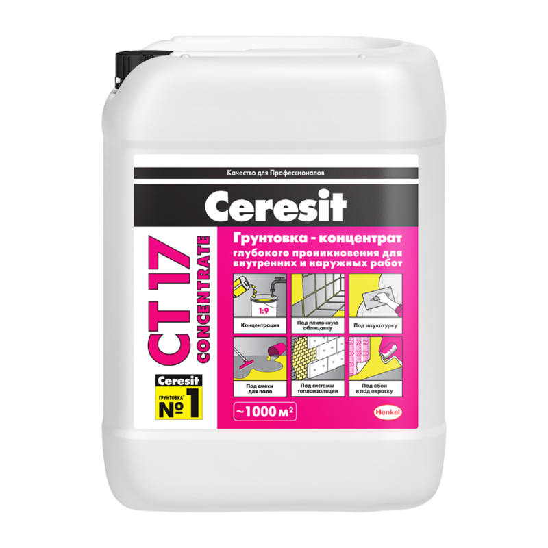 Грунтовка Ceresit CT 17 Concentrate 10 л